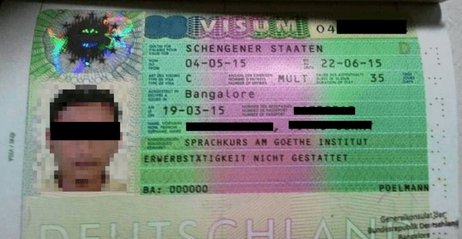 Visa Germany Language Course at the Goethe Institut Germany Schengen States